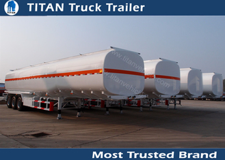 China 3 Axles 45000 liters 5 compartments fuel tanker trailer for oil transportation factory