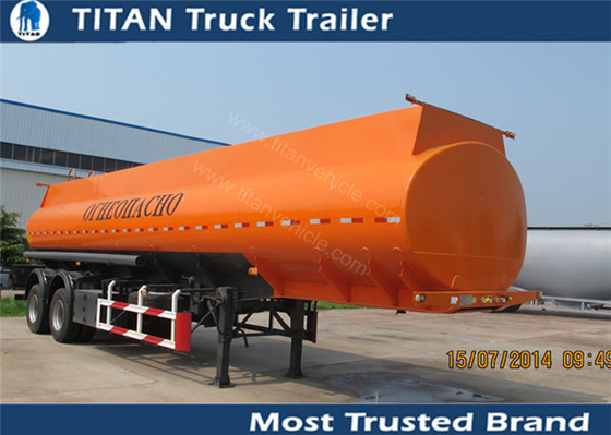 China Professional multi compartments petrol liquid tank trailer with 2 axles 38000 liters factory