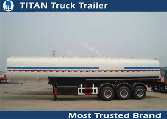 China Mechanical / air / bogie suspension petroleum tanker trailer with Reinforced ladder factory