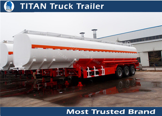 China Road fuel tanker trailer for gasoline , petrol , diesel fuel transportation supplier