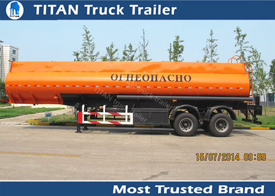 China Diesel fuel gasoline tank trailer with 30000 liters - 42000 liters capacity factory