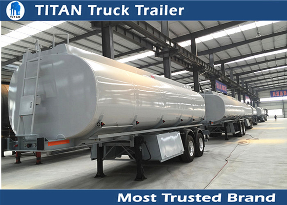 China Liquid tank trailers / tanker trailer for petrol diesel crude oil transportation factory