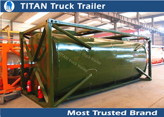 China Customized oil tank trailer 4mm 5mm 6mm tank thickness , semi truck trailer supplier
