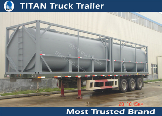 China Q235B 40ft Newport tank containers tanker trailer for Africa market , crude oil trailers supplier
