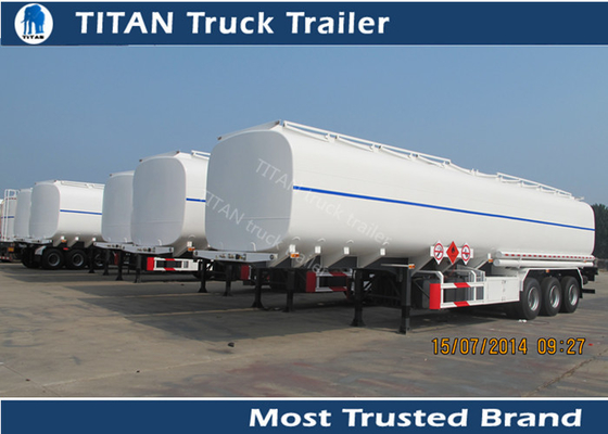 China Tri - axle Carbon steel semi Fuel tank trailers with multi size and capacity optional factory