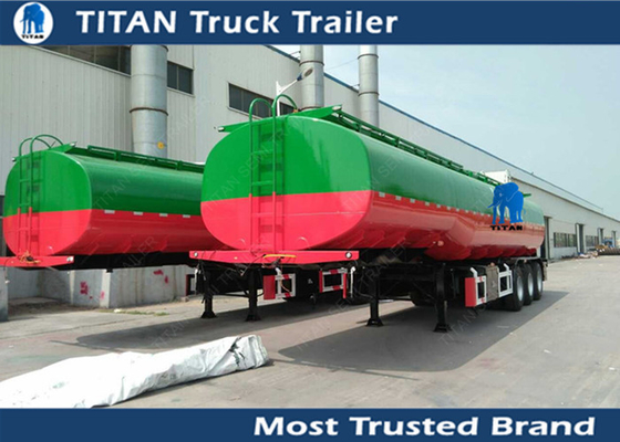 China 1 3 5 Compartment fuel tanker semi trailer with 3 axles 50000 liters for Ghana factory
