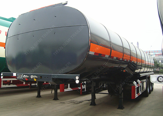 China Bitumen asphalt crude oil Tanker Trailer with thermal insulation and heating system factory