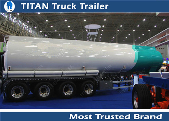 China Reliable 60000 ltiers diesel tank trailer for Djibouti , fuel tank semi trailer factory