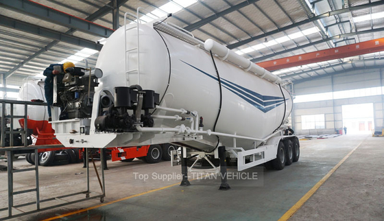 China Tri axles 50 , 80 and 100 ton cement tanker trailer for Pakistan supplier