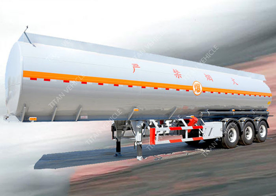 China 3 Axles 45000 liters 5 compartments diesel fuel tank trailer for oil transportation supplier