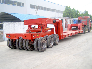 China Hydraulic steering lift low loader Multi Axle Trailer for heavy duty equipment transport supplier