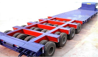 China 150 Ton 4 lines 8 axles lowboy Heavy Haul Trailers for Heavy construction machines supplier