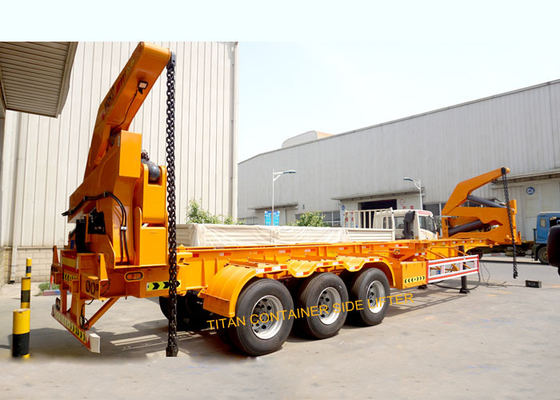 China TITAN container side Loading Sidelifter semi trailer 37 ton capacity supplier