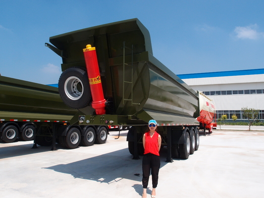 China Light weight U shape 24cbm dump trailer by 40HQ container shipping supplier