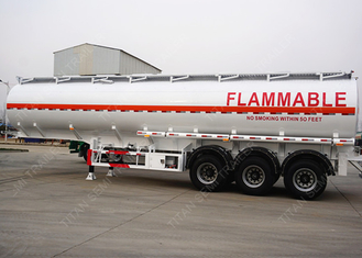 China 3 axles 42000 liters pneumatic tank trailers 9 compartment European system supplier