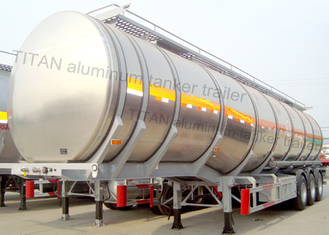 China Aluminum Insulated Tanker Semi Trailer For Asphalt Edible Crude Oil supplier