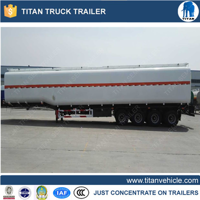 China 4 axles 90000 liters cooking oil tanker trailer for Africa supplier