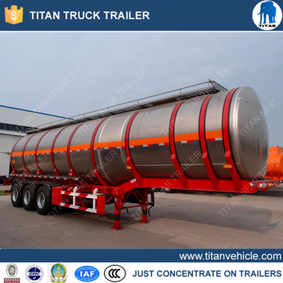 3 axles 54000lts aluminum tanker trailer with European system