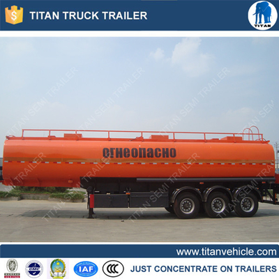 China customized tri axle 42000 litre diesel tanker trailer for Mauritius supplier