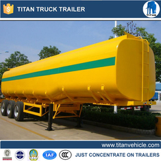 China Tri - axle crude oil , petrol tanker trailer with customized capacity , size , color supplier