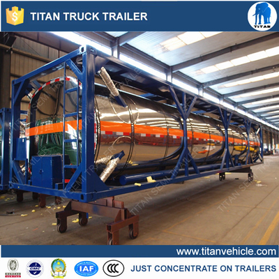 China 40ft Crude oil trailers with thermal insulation for transport diesel , fuel , water supplier