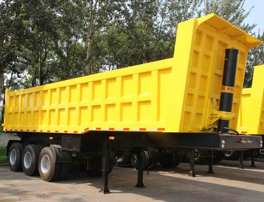 China TITAN 3 Axle 35CBM ET U shape dump trailer / heavy duty utility trailer supplier
