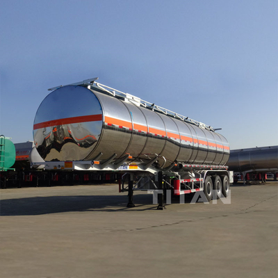 China 3 axles by 13tons axel tank trailer fuel tankers for sale stainless steel tanker trailer supplier