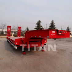 China Low Bed Trailer 2 axles 50 tons for the transport of 75 ton and 45 ton machines supplier