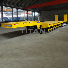 China TITAN low bed trailer price heavy equipment transport trailer hydraulic low bed trailer for sale supplier