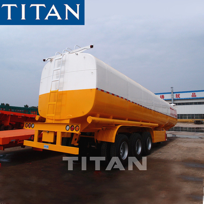 China 3 axles 42000/45000liter capacity fuel tanker Aluminum tank trailers factory