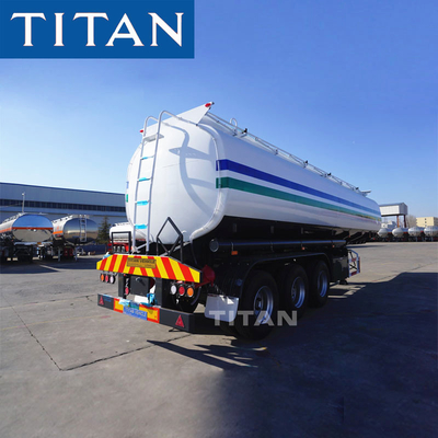 China tri-axle diesel fuel trailer carbon steel 40,000/42000 liters fuel tank trailer factory
