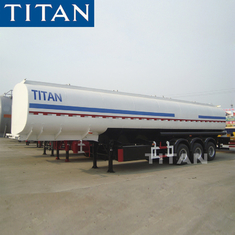 China tri-axle diesel fuel trailer carbon steel 45,000/47000 liters oil tanker semi trailer factory