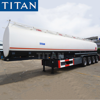 China 4 axle 40000/42000liters crude oil petrol tanker trailer gasoline trailer  fuel tank trailer factory