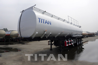 China 3 axle diesel fuel trailer 45,000/47000 liters Fuel Tanker Trailer factory