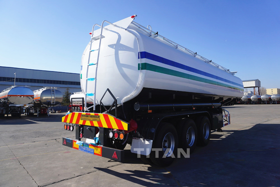 China 50000 liter carbon steel oil tank semi trailer Fuel Tanker Trailer factory