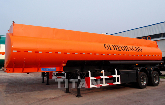 China 2 axle milk tanker trailer Fuel Tanker Trailer  petroleum trailers for sale factory