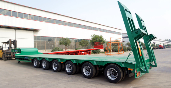 China TITAN 3/4/6 axles 40/60/80 tons heavy transport semirremolque low bed trailer supplier