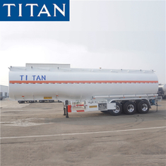 China TITAN 3 axle stainless steel fuel tanker trailers truck for sale factory