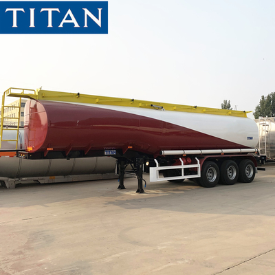 China TITAN tri-axle 45000 liters oil transport fuel tanker trailers factory