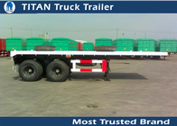 China 2 Axles 20 foot flatbed semi trailer , flatbed trailer truck equipment factory