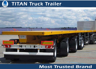 China 4 Axles 60 tons 40ft Flatbed Semi Trailer with mechanical steel spring suspension factory