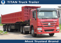 China Custom 3 Axle pull behind dump flatbed  trailer , semi dump gooseneck trailer factory