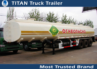 China Flammable gasoline tank trailer , 4mm 5mm 6mm tank thickness liquid tank trailers factory