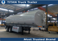 China 2 Axles carbon steel semi tanker trailer for diesel fuel , crude oil , petrol transportation factory