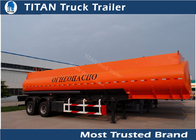 China Single compartment small fuel tanker semi trailer two axles 36000 liters factory