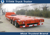 China Customized Steel HG60 heavy duty utility trailer 100 - 150 ton 3 lines 6 axles company