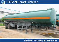 China 35000 Liters Capacity military tanker truck trailer , two axles semi trailer tanker factory