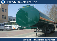 China Q235B carbon steel Small capacity fuel tanker semi trailer for edible oil transportation factory