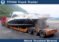 China High strength 3 Axle low bed Heavy Haul Trailers For Heavy Boat Transportation factory