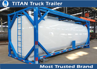 China ISO tank container tanker trailer for diesel fuel , petrol , palm oil transportation factory